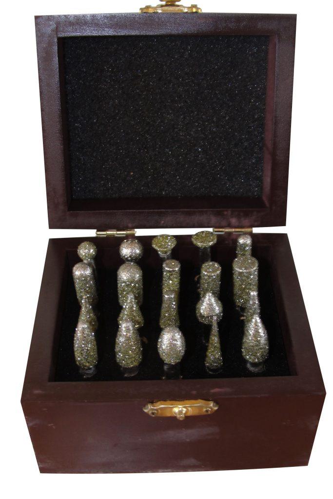 Frézky diamantové set